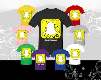 """Get your """"SNAPCHAT QR CODE"""" on a t-shirt, and your friends can snap your shirt to add you"""