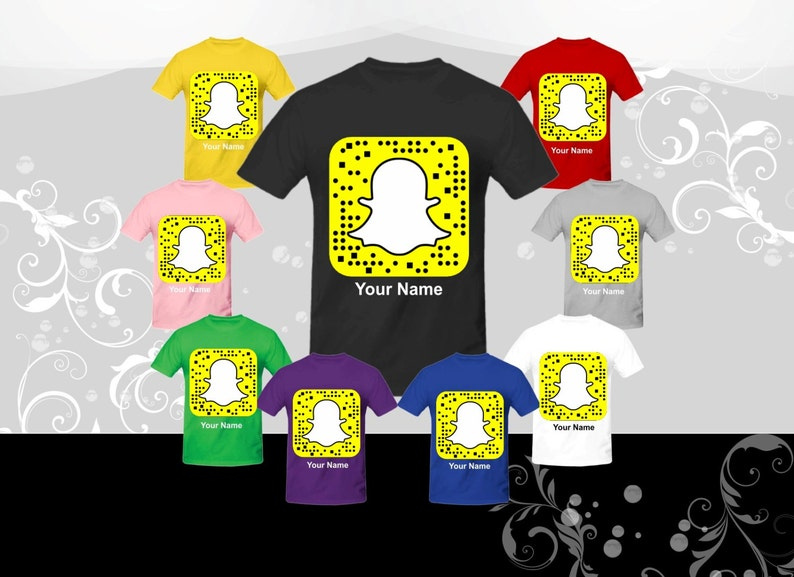 efef1ddd8e7 Get your SNAPCHAT QR CODE on a t-shirt and your | Etsy