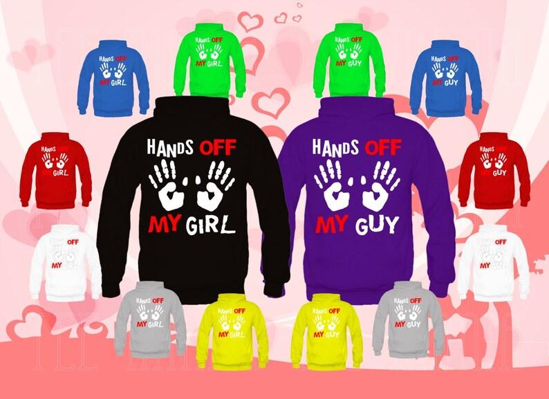 7501538d Hands off my Girl Hands off my Guy sweatshirts Couple | Etsy