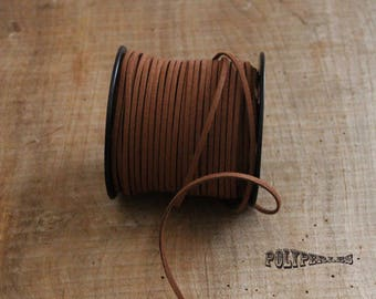 1 m of brown suede cord