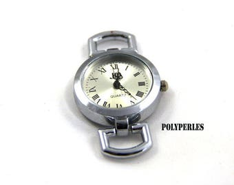 Silver watch dial
