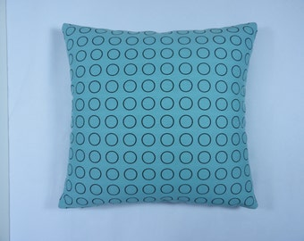 "Repeat Dot Ring by Hella Jongerius. Robin color - Maharam Textile - 17"" x 17"" pillow with feather insert"