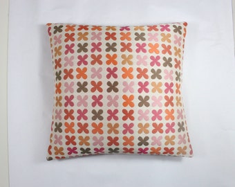 """Quatrefoil by Alexander Girard, 1954  Pink Maharam Fabric - Pillow 17"""" x 17"""" feather insert included"""