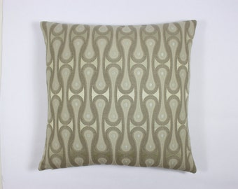 "Design 9297 by Josef Hoffmann, 1913. Ash - 17"" x 17"" accent pillow with feather insert."
