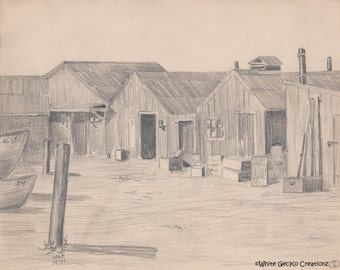Chinese Fishing Village, Monterey, CA 1901