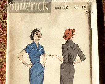 Butterick 7231 - Twin Pocketed, Dew Drop Yoke Dress, Size 14/Bust 32, factory-folded sewing pattern