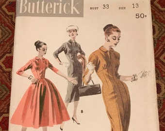 Butterick 7942 - Empire-Princess Basic Dress, Size 13/Bust 33, Factory-folded sewing pattern