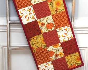 Autumn table runner, quilted Fall table runner,Fall table decor, Autumn table decor, Fall table topper, Fall runner, Autumn runner