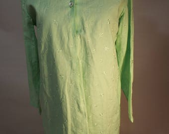 Ladies Long green tunic shirt or dress 10