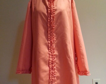 Ladies Long orange fall/ winter shirt or dress 18-20