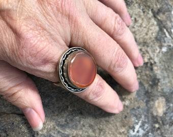 Jewelry, Sterling Rings, Size 10.50, Orange Stone, Boho Rings, Gypsy Rings, Bohemian Rings, Stone Rings. Rings, Sterling jewelry, Rings