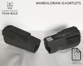 Mandalorian foam gauntlet templates