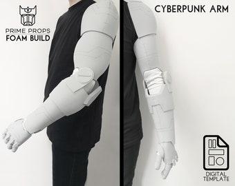 Cyberpunk arm foam pattern