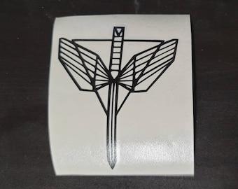 Wynonna Earp Angel's Shield Decals