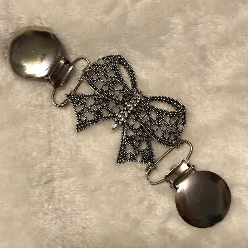 7b3c021c0c20d4 Bow cinch clips silver Carly dress clip Bronze tunic | Etsy