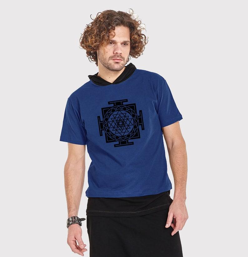 cd3727f2467101 Herren t-Shirt mit Druck SRI YANDRA samt Druck-Psy Kleidung