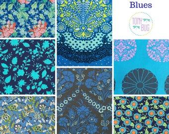 Amy Butler BUNDLE of Blue Florals ~ Fat Quarter or Half Yard ~ Designer 100% Cotton Fabric