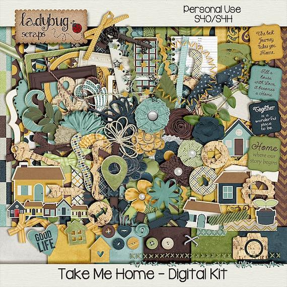 Take Me Home Digital Scrapbooking Kit