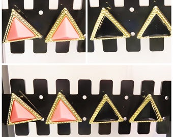 Tribal Triangle | Large Stud Earrings | Lilly Rose