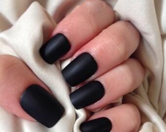 Lilly Rose | False Nails | Matte (Black&White)