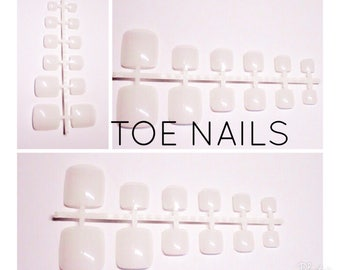 False Nails | Clear/Plain Toenails | By Lilly Rose