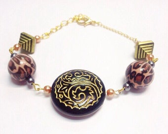Mixed Bead Bracelet | Tribal Bronze/Copper | By Lilly Rose