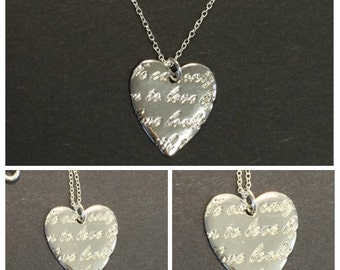 """Scripted Heart 18"""" Necklace 
