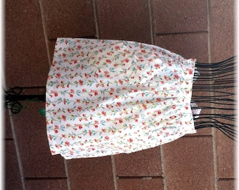 ORANGE FLOWER CHAIN Apron  - Cooks Up to Size 14