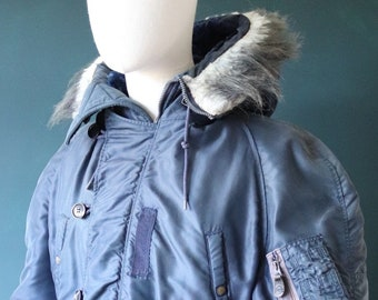 """Vintage 1950s 50s USAF N-3A N3A ground crew parka jacket Aviators Clothing Co Inc 50"""" chest XL extreme cold weather"""