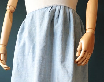 Vintage 1940s 40s 1950s 50s French cotton linen metis apron pinny kitchen work chore workwear