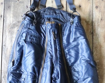 "Vintage 1940s 40s 1950s 50s USAF US air force extreme cold weather trousers A-11C overalls Conmar zipper motorcycle CH Masland 32"" x 30"""