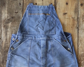 """Vintage 1950s 50s French Le Mont St Michel moleskin overalls dungarees work chore workwear 36"""" 38"""" x 26"""""""