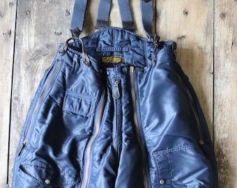 "Vintage 1940s 40s 1950s 50s USAF US air force extreme cold weather trousers A-11C overalls Conmar zipper motorcycle Monarch 28"" x 30"""