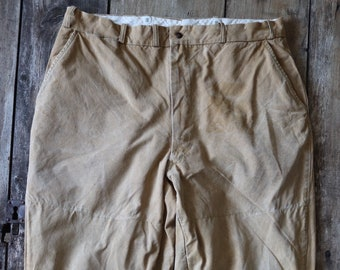 """Vintage 1950s 50s 1960s 60s Duxbak hunting trousers pants work workwear chore tin cloth duck cotton canvas 35"""" x 28"""" field utility"""
