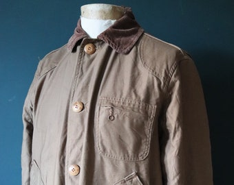 "Vintage 1950s 50s 1960s 60s American Field Hettrick hunting shooting jacket work chore workwear 48"" chest"