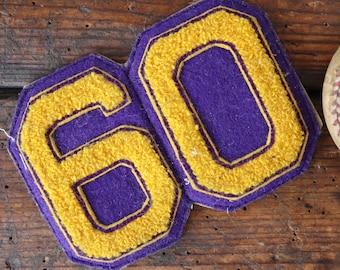 Vintage chenille patch Letterman sports american high school college track field sportswear jacket 60