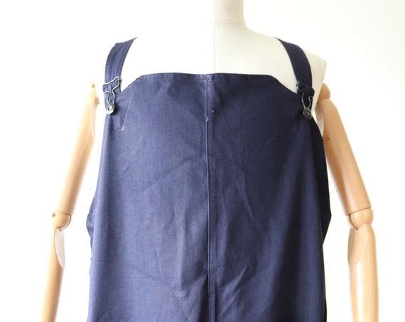 "Vintage 1980s 80s British GPO post office indigo overalls dungarees workwear work chore 44"" x 32"""