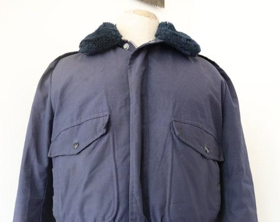 """Vintage 1960s 60s 1970s 70s Schott goose down cotton Talon zipper 46"""" chest B-15 B 15 flight pilot style"""