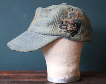 Vintage 1960s 60s Vietnam era military tour baseball souvenir cap hat Guam Thailand Okinawa sukajan