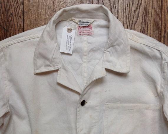 Vintage 1960s 60s deadstock British Pexwear white cotton overalls coveralls cinch back mechanics pit lane garage hot rod rockabilly workwear