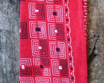 Vintage 1930s 30s 1940s 40s Elephant trunk down turkey red cotton bandana colour color fast workwear work chore (2)