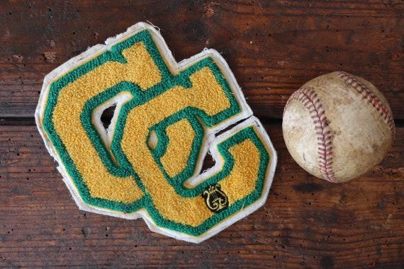 Vintage chenille patch Letterman sports american high school college track field sportswear jacket CC choir