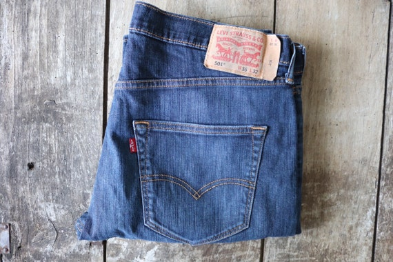 "Vintage Levis Levis Strauss 501 blue denim jeans 36"" x 31"" workwear red tab small e"