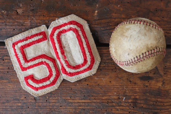 Vintage 1950s 50s chenille patch Letterman sports american high school college track field sportswear jacket 50