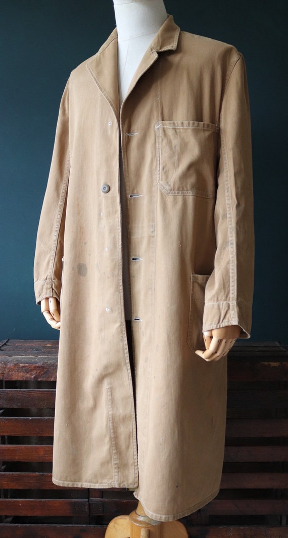 Vintage 1930s 30s 1940s 40s Carhartt brown cotton