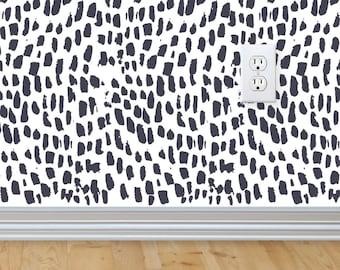Removable wallpaper /Peel and stick/Wallpaper/Self adhesive wallpaper/Temporary wallpaper. Brush Strokes print