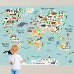 HUGE!!! Map of the World Playroom Decal / World Map Wall Decals Kids Map Bedroom Decals Playroom Decals Boys Wall Decal RockyMountainDecals