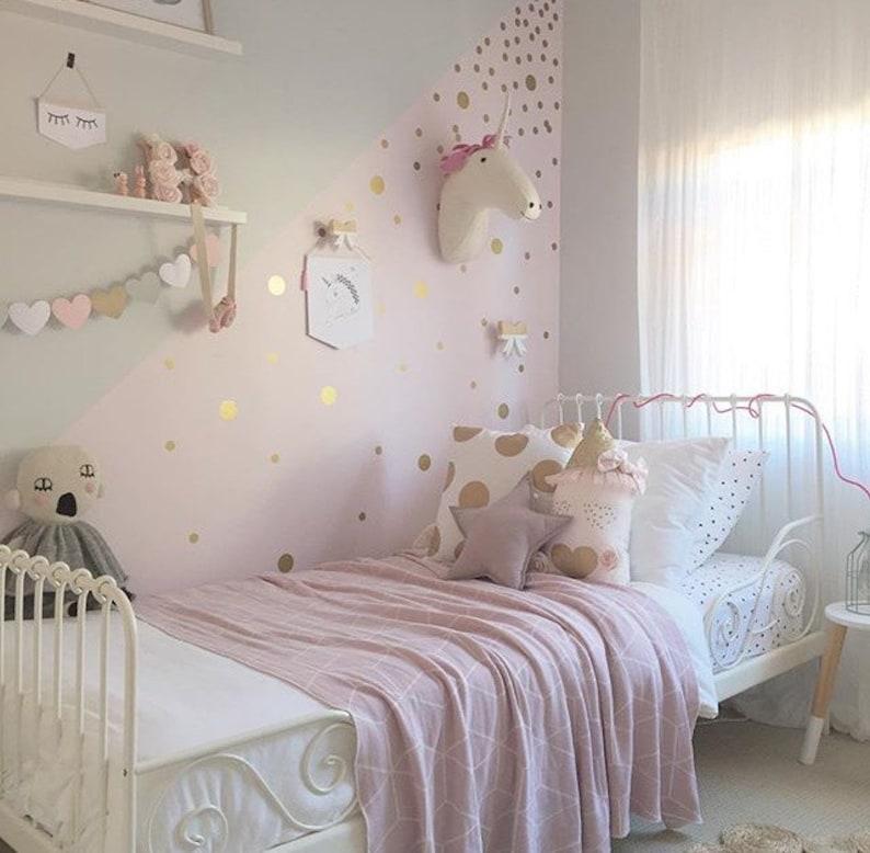 Gold Polka Dot Decals Spot Decal Home decor Vinyl Wall image 0