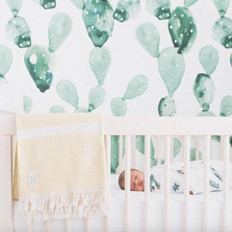 Jahrgang Kaktus-Muster-Wandtattoo Tapete Aufkleber grüne   Etsy