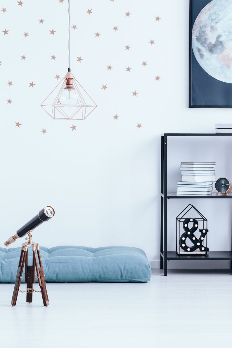 Star Wall Decals Bedroom Wall Decor Vinyl Decals Wall Etsy